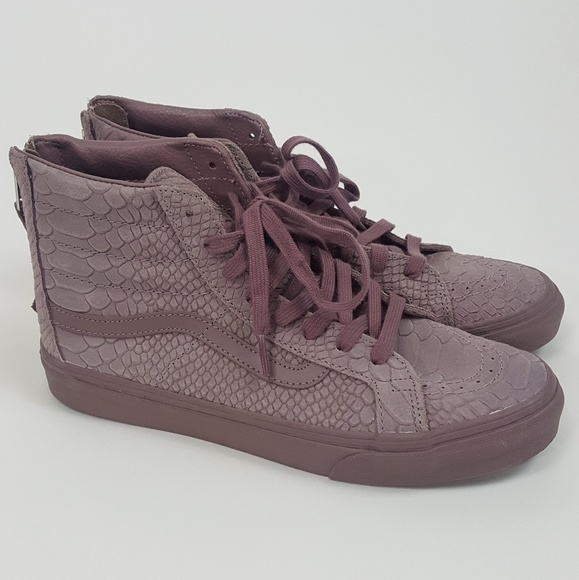 Vans Sk8 Hi Slim Zip DX Mono Python Purple Hi Top